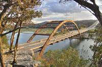 Pennybacker-Bridge-At-Sunset