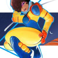 Spacegirl #1 Art Prints & Posters by Roderick A. Perez