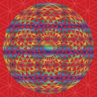 Multi coloured Geometric eye +red FoL