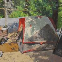Camping at Dinkey Creek Art Prints & Posters by Dag Compeau