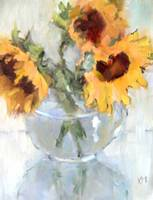 Sunflowers in Glass