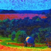 Landscape Near Saint Drézéry Art Prints & Posters by Volker Baecker