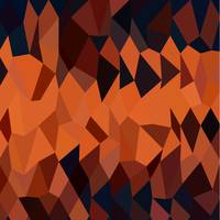 Persimmon Orange Abstract Low Polygon Background