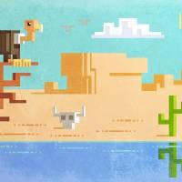 Pixel desert Art Prints & Posters by Metin Seven