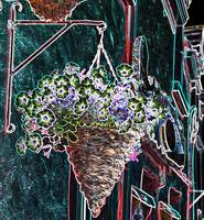 Abstract Flower Basket