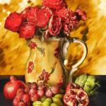 """Fruit and Roses Still Life-STL565482"" by rdwittle"