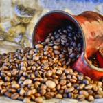 """Coffee Beans and Cup StillLife-STL491266"" by rdwittle"