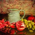 """Pitcher surrounded by fruit StillLife-STL562357"" by rdwittle"