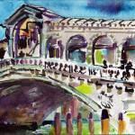 """Rialto Bridge Venice Grand Canal"" by GinetteCallaway"