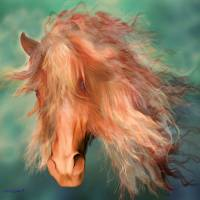 A horse called Copper Art Prints & Posters by Valerie Anne Kelly
