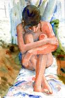 Nude female art | watercolor painting | Self Embra