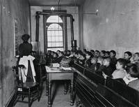 A Class in the Condemned Essex Market School, With