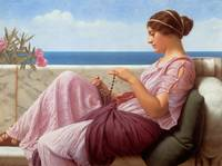 1920 - A Souvenir - John William Godward