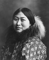An Inuit woman circa 1907, taken in Nome, Alaska.