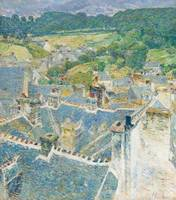 Childe Hassam, Rooftops. Pont-aven. Brittany