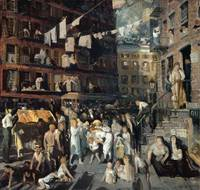 George Bellows , Cliff Dwellers, (1913)