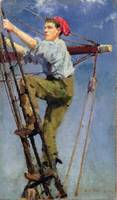 Henry Scott Tuke - Going aloft
