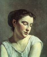 Frederic Bazille, Young Woman with Lowered Eyes 18
