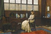JOHN ATKINSON GRIMSHAW, THE CRADLE SONG