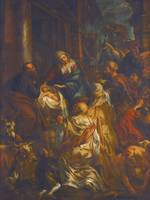 JACOB JORDAENS AND WORKSHOP , ADORATION OF THE MAG