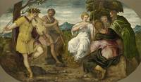 Jacopo Comin, called Tintoretto, The Contest Betwe