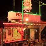 """Pizzeria at night, Grand Case Saint Martin"" by RoupenBaker"