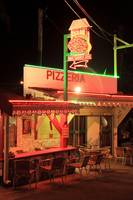 Pizzeria at night, Grand Case Saint Martin