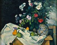 Paul Cezanne - Still Life with Flowers and Fruit