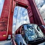 """Golden Gate Bridge, Tower and Bus"" by New-Yorkled"