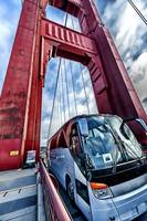 Golden Gate Bridge, Tower and Bus