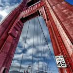 """Extreme Overhead view of the Golden Gate Bridge"" by New-Yorkled"