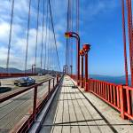 """Golden Gate Bridge Walkway and Traffic"" by New-Yorkled"