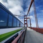 """An Express bus speeds on the Golden Gate Bridge"" by New-Yorkled"