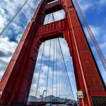 """Golden Gate Tower with traffic passing through."" by New-Yorkled"
