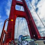 """Truck and Golden Gate Bridge Tower View"" by New-Yorkled"