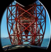 Golden Gate Bridge Extreme Perspective Panorama