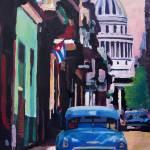 """""""Cuban Oldtimer Street Scene in Havanna Cuba"""" by arthop77"""