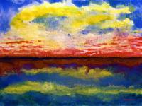 Seascape Sunrise Painting C4