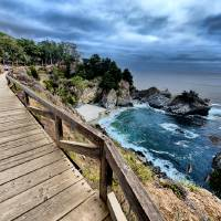 McWay Falls in Julia Pfeiffer Burns State Park, CA Art Prints & Posters by New Yorkled