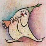 """""""Melodicos 2  Original watercolor 5x7 inches"""" by delabarra"""