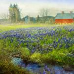 """red barn blue bonnets"" by rchristophervest"