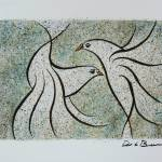 """""""Vuelo 4  Original watercolor 10x13 inches"""" by delabarra"""