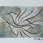 """""""Vuelo 1  Original watercolor 10x13 inches"""" by delabarra"""