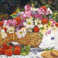 THE SUMMER PICNIC Art Prints & Posters by David Lloyd Glover