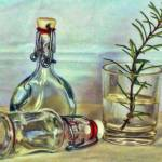 """Bottles and Rosemary Still life STL646622"" by rdwittle"