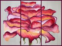 Rose - Triptych Painting