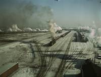 Chicago and Northwestern Railroad by Jack Delano,