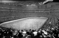 Chicago Stadium prepared for a Chicago Blackhawks