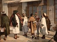 Arabs disputing, Algiers, Algeria, ca. 1899