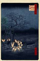 Hiroshige New Year's Eve foxfires at the changing